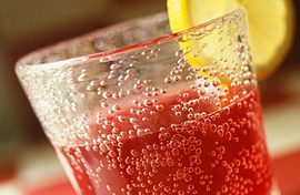 Syrups with soda and ice